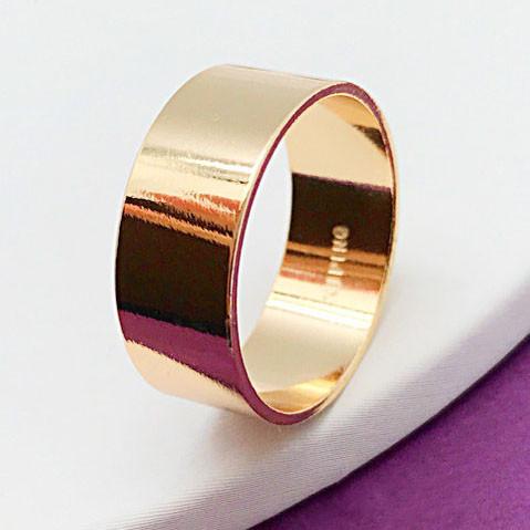 Кольцо обручальное XUPING размер 20,5, Американка 8 мм, медицинское золото, позолота 18К