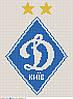 Схема для вышивки бисером по мотивам лого Динамо Киев