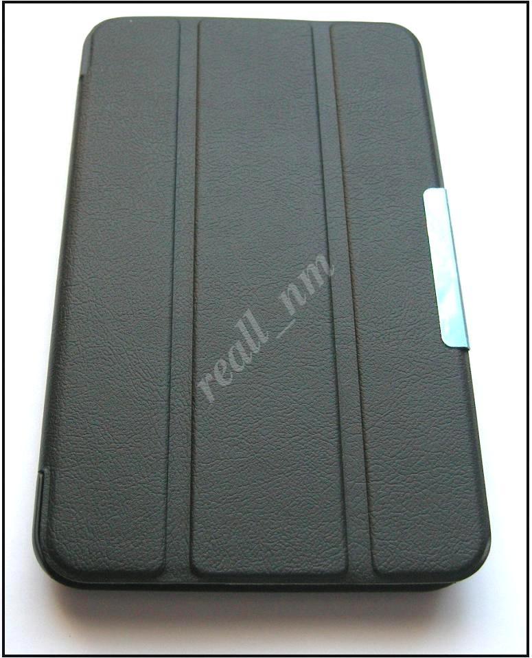 Черный кожаный Tri-fold case чехол-книжка № 3 для планшета Asus Memo Pad 7 Me170C Me170CX K017