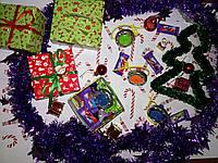 Новогодний подарок Sundy Box X сладкий с игрушкой БейБлейд с запуском, фото 1