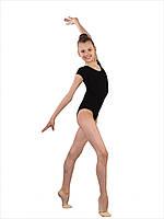 Детский купальник для гимнастики и танцев короткий рукав бифлекс