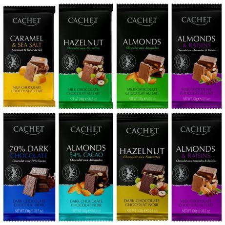 Шоколад Cachet в ассортименте 300г /Бельгия -оригинал!/
