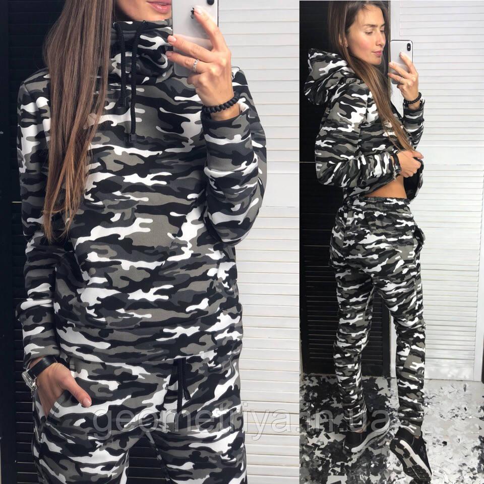 00bde6b1 Теплый женский спортивный костюм на флисе камуфляж: продажа, цена в ...