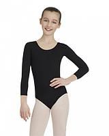 Детский купальник для гимнастики и танцев (хлопок) Черный