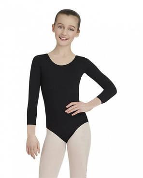 Детский купальник для гимнастики и танцев Хлопок Черный, фото 2
