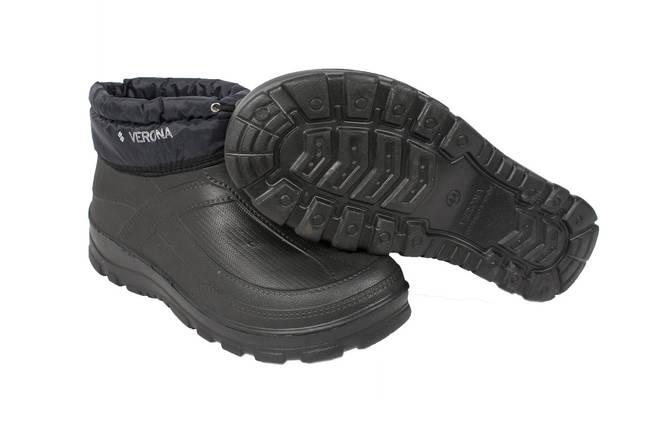Галоши мужские ЭВА (пена) VR  утепленные МЕХ Манжет на шнурке черные, фото 2