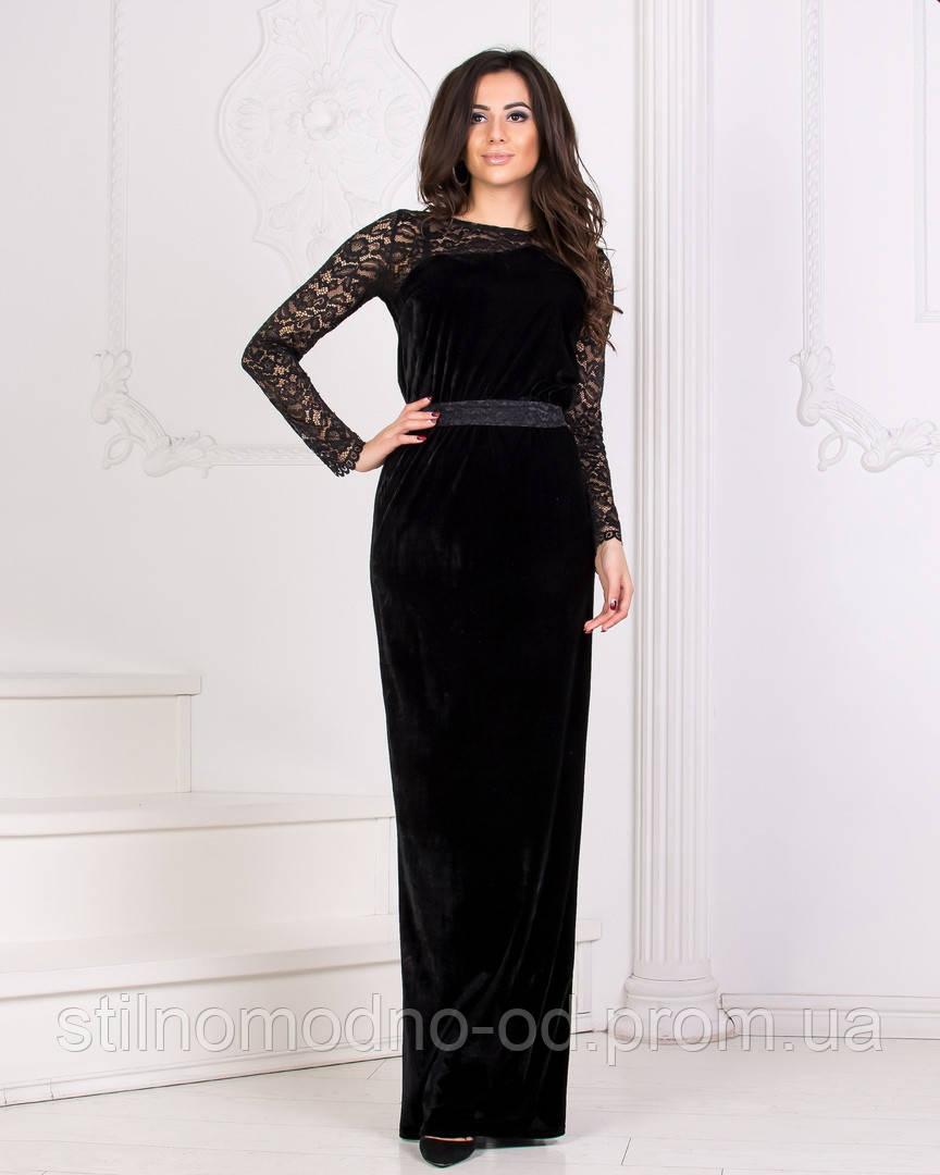 04c93adbac4713f Бархатное платье в пол от