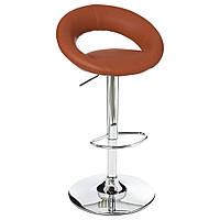 Барный стул из хромированной стали в красном цвете, табурет, стул для кухни, барный стул, хокер для кухни
