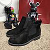 Ботинки зимние на термо носке, черные (реплика)