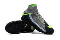 Футбольные сороконожки Nike HypervenomX Proximo II DF TF Black/Volt/Dark Grey, фото 1