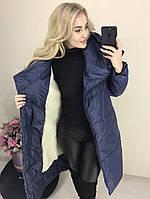 Пальто женское стеганое на меху 26294, фото 1