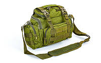 Сумка тактическая плечевая  SILVER KNIGHT TY-09  цвет оливковый