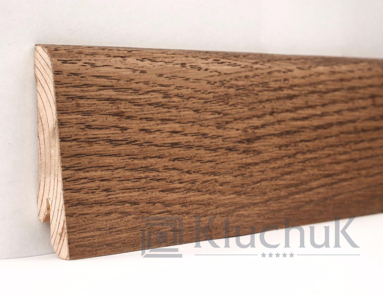 Плинтус Евро Дуб Мокка 6 см
