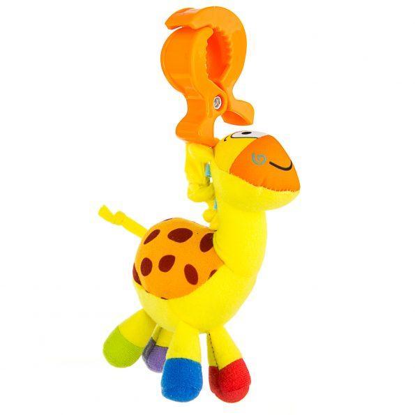 """Вибрирующая игрушка-подвеска с зажимом Mioobaby """"Жираф"""""""