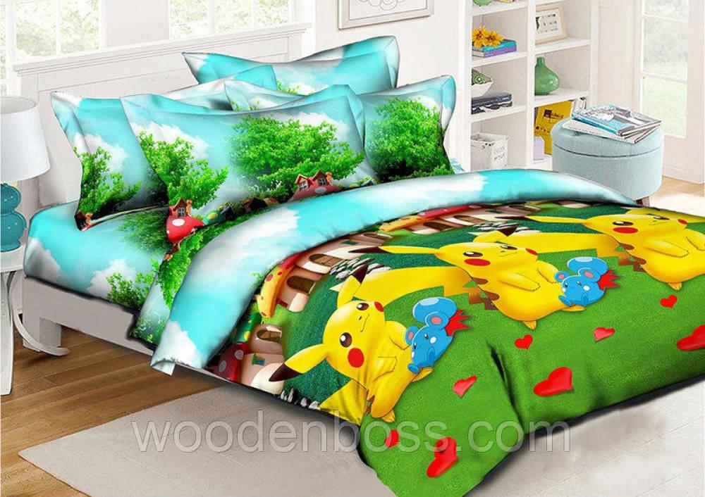 """Комплект постельного белья """"Покемоны"""", ранфорс"""