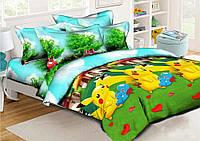 """Комплект постельного белья """"Покемоны"""", ранфорс, фото 1"""
