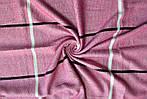 Стильный женский шарф цвет розовый в клетку, фото 2