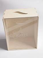 Фанерный ящик с прозрачной крышкой
