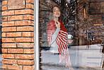 Жіночий кашеміровий шарф колір червоний, фото 5