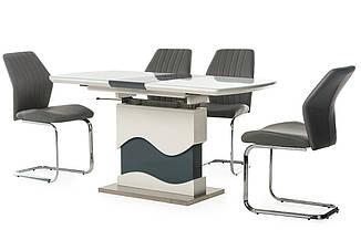 Раздвижной стол TMT-80 экстра белый + серый 120/150 Vetro Mebel