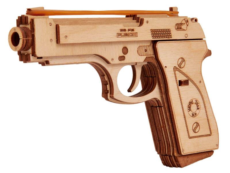 Дерев'яний Конструктор Пістолет. Wood trick пазл. 100% ГАРАНТІЯ ЯКОСТІ (Опт,дропшиппинг)