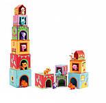 DJECO Игра Топанимо ферма 6 кубиков+6 животных, Topanifarm, фото 3