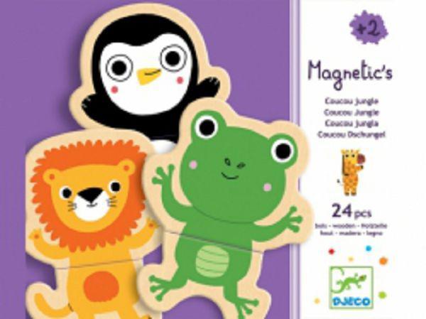 DJECO Магнітна гра Забавні тварини 24 дет.