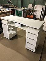 Маникюрный стол на хромированных ножках,  Модель V303 белый