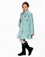 Детское пальто для девочки №568 мята