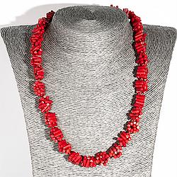 Червоний корал, намисто, 134ОК