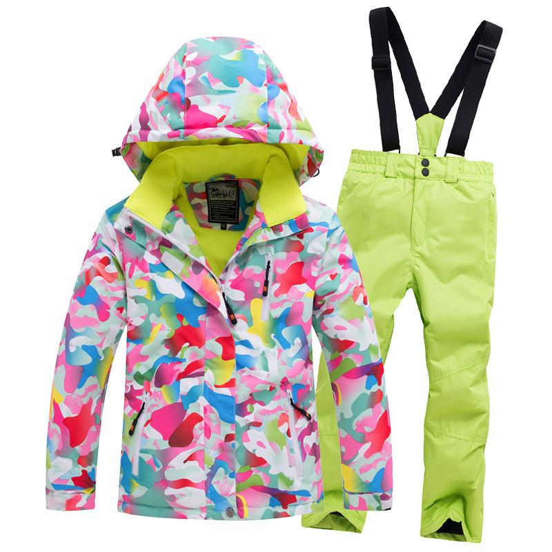 """Лыжный костюм """"Розовые разводы"""" - 4 варианта, для детей и подростков"""