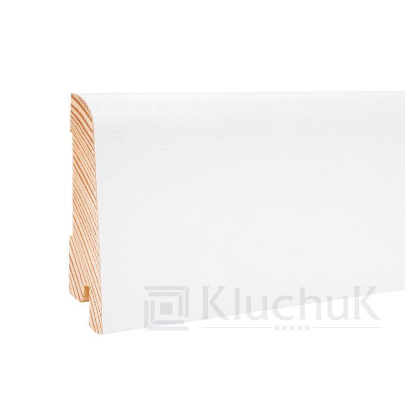 Плинтус деревяный KLUCHUK Евро Дуб Белый 6см