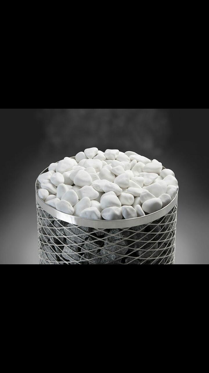 Камни для бани и сауны. Premium white deco