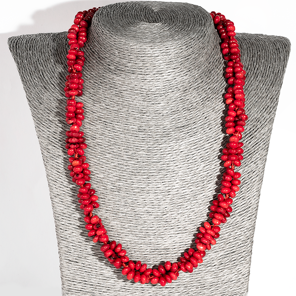 Червоний корал, намисто, 136ОК