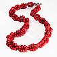 Червоний корал, намисто, 136ОК, фото 2