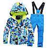 """Лыжный костюм """"Голубые разводы"""" - 4 варианта, для детей и подростков, фото 3"""