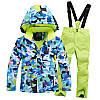 """Лыжный костюм """"Голубые разводы"""" - 4 варианта, для детей и подростков, фото 5"""