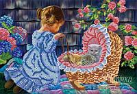 Схема для вышивки бисером  Дочки-матери РКП-074