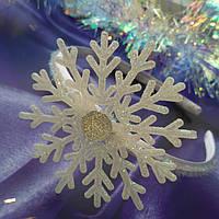 Обруч Снежинка белая 2