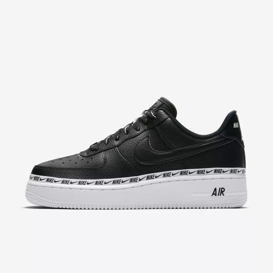 """Кроссовки Nike Air Force 1 '07 SE Premium """"Black/White"""" (Черные/Белые)"""