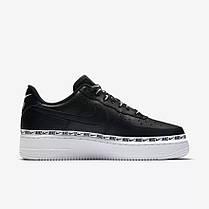 "Кроссовки Nike Air Force 1 '07 SE Premium ""Black/White"" (Черные/Белые), фото 2"