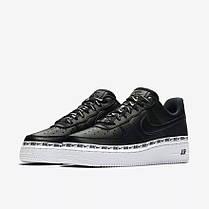 "Кроссовки Nike Air Force 1 '07 SE Premium ""Black/White"" (Черные/Белые), фото 3"