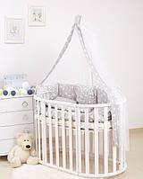 Детская постель Twins Dolce Лесные жители 8 эл D-016, серая (8900)