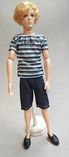 Шарнірна лялька Кен, Річард хлопчик з скляними 3D очима, блондин + костюм, взуття