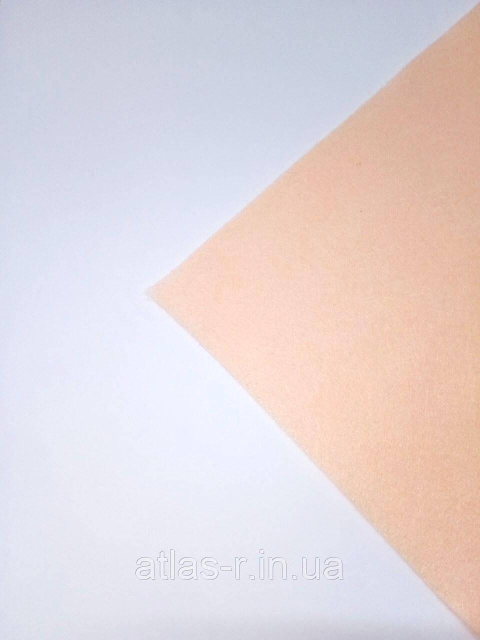 Мягкий фетр для рукоделия персиковый листовой 1,3 мм