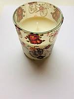 Свеча ароматизированная в стакане Bispol,высота 75мм,диаметр верх 70мм,диаметр низ 65мм