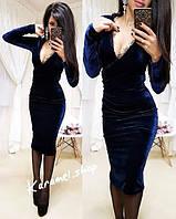 Красивое женское платье ткань велюр+французское кружево цвет ... 32120918a25