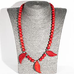 Червоний корал, намисто, 135ОК