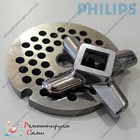 Комплект нож и сетка для мясорубки Philips HR2725