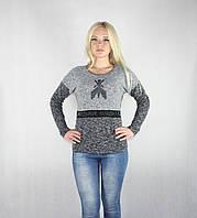 Женская теплая кофта серого цвета, фото 1